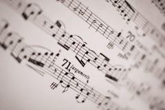 Musical score. Closeup picture of musical score Stock Photos