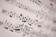 Musical score. Closeup picture of musical score Stock Images