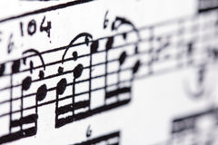 Musical score Royalty Free Stock Image