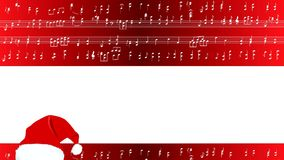 Musical Score Merry Christmas stock video footage