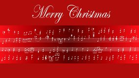 Musical Score Merry Christmas stock footage