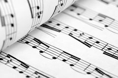 Musical score. Royalty Free Stock Photography