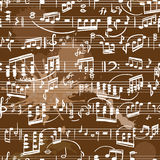 Musical score seamless Royalty Free Stock Images