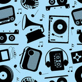 Musical seamless pattern Royalty Free Stock Image