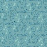 Musical seamless pattern Stock Image