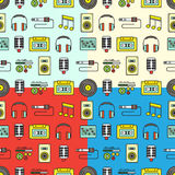 Musical seamless pattern Royalty Free Stock Photo