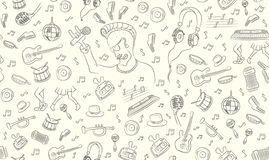 Musical seamless pattern Stock Photography