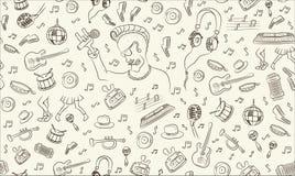 Musical seamless pattern Royalty Free Stock Photo