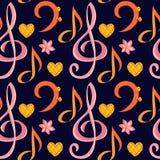 Musical seamless pattern. Royalty Free Stock Photos