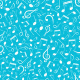 Musical seamless pattern with notes Stock Photography