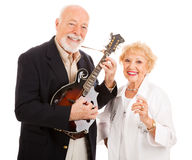 Musical Senior Couple Royalty Free Stock Image