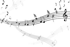 Musical sheet. Abstract illustration of musical notes Royalty Free Stock Photography
