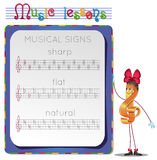 Musical signs Stock Image