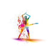 Musical silhouette desig Royalty Free Stock Photo