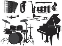 Musical silhouettes 2 Royalty Free Stock Photo