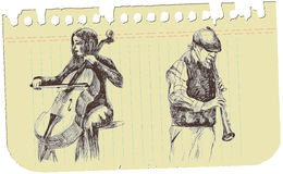 A musical sketch no.1 Royalty Free Stock Image