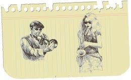 A musical sketch no.3 Stock Photo