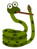 Musical snake Royalty Free Stock Image