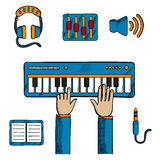 Musical and sound recording icons Royalty Free Stock Photo