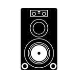 Musical speaker audio stereo pictogram Stock Images