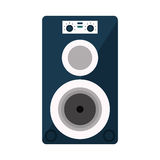 Musical speaker audio stereo Royalty Free Stock Image