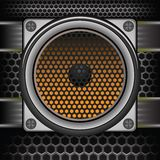 Musical speaker Stock Photo