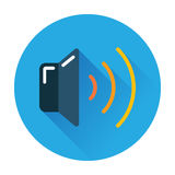 Musical speaker icon Stock Photo