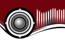Musical Speakers Background Stock Image