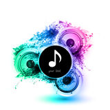 Musical speakers background Royalty Free Stock Photos