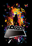 Musical splat. Musical inspired background image with room to add text Royalty Free Stock Photography