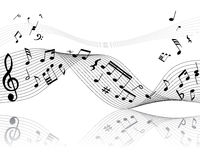 Musical staff Royalty Free Stock Images