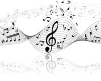 Musical staff. Musical note stuff vector backgrounds with notes and lines stock illustration