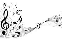 Musical staff vector illustration