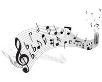 Musical staff theme Stock Images