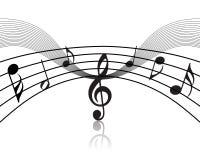musical staff theme 免版税库存照片
