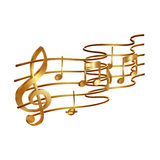 Musical stave volume Royalty Free Stock Photography