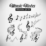 Musical staves Royalty Free Stock Images