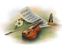 Musical still life stock illustration