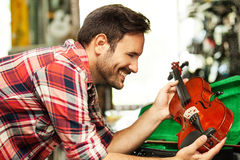 In Musical  Store Royalty Free Stock Photography