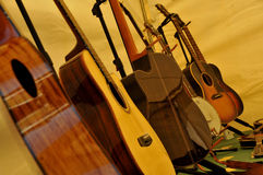 Musical Stringed Instruments. All in a Row Stock Image