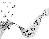 Musical stuff background Royalty Free Stock Photos