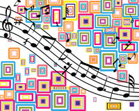 Musical stuff background Stock Images