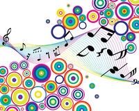 Musical stuff background Royalty Free Stock Image