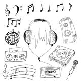 Musical stuff. Vector illustration Royalty Free Stock Images