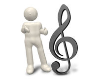 A musical symbol Royalty Free Stock Images