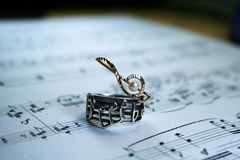 Musical symbolism Stock Photography