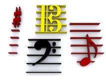 Musical Symbols Royalty Free Stock Images