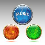 Musical symbols icon  Royalty Free Stock Photography
