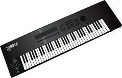 Musical synthesizer. Electronic musical synthesizer isolated on white background Stock Photos