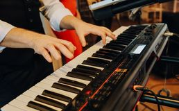 A musical synthesizer royalty free stock images